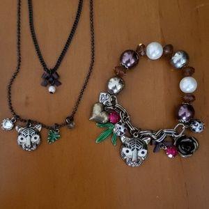 $5/25💎 Betsey Johnson Bracelet and Necklace Set